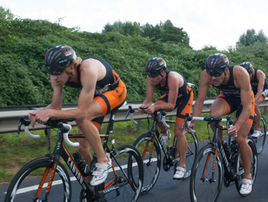 Back pain in cyclists